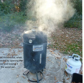 smoker in operation